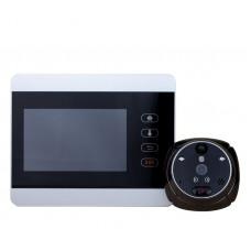 Беспроводной WiFi видеоглазок с датчиком движения, звонком и аккумулятором iHome5 Silver